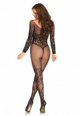 Bodystocking Leg Avenue aperto all'inguine