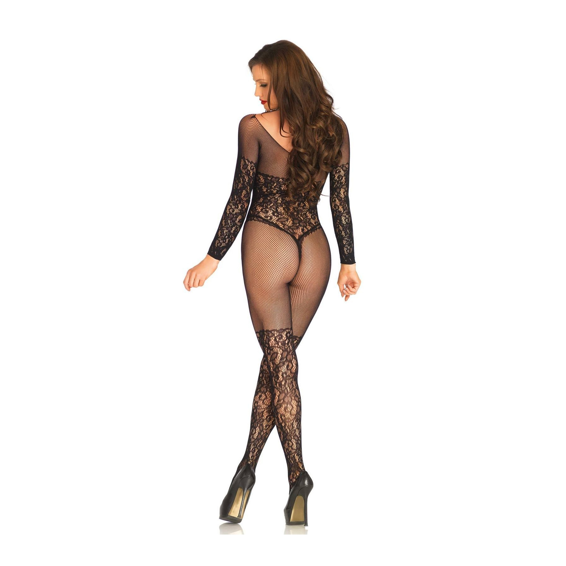 Sexy bodystocking in pizzo e ricami Leg Avenue