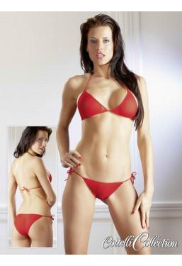 Bikini in tulle trasparente
