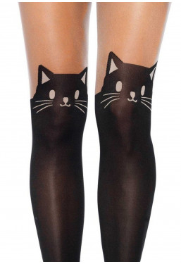Collant stampa gatto nero Leg Avenue