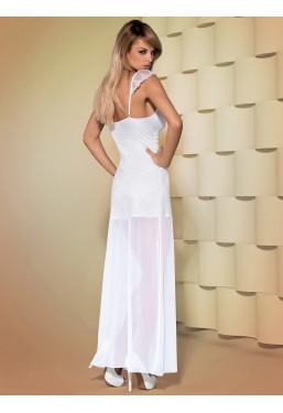 Sottoveste lunga vestito bianco Feelia