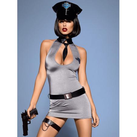 Costume da Poliziotta Sexy travestimento 5 pezzi