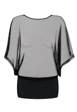 Sexy abito maglia in rete gonna nera Punker dress