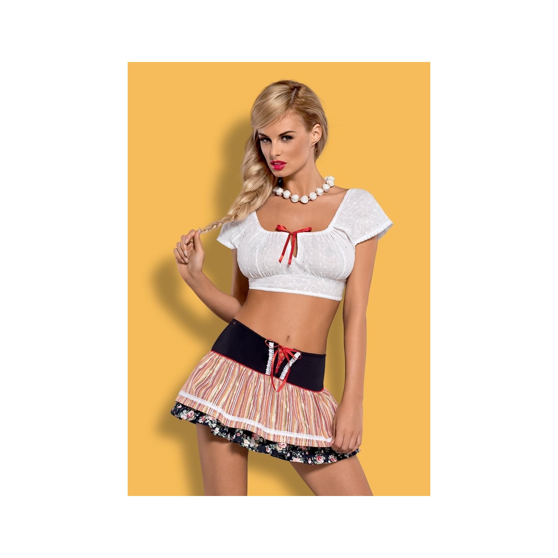 Sexy Costume Loviche Top Minigonna Boho
