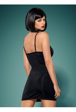 Sexy mini abito Gretia vestito nero con borchie