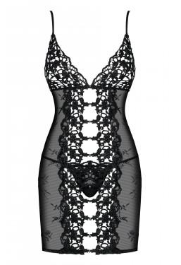 Sexy sottoveste nera Bride pizzo crochet e ricami