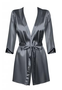 Vestaglia in elegante raso grigio Satinia Obsessive