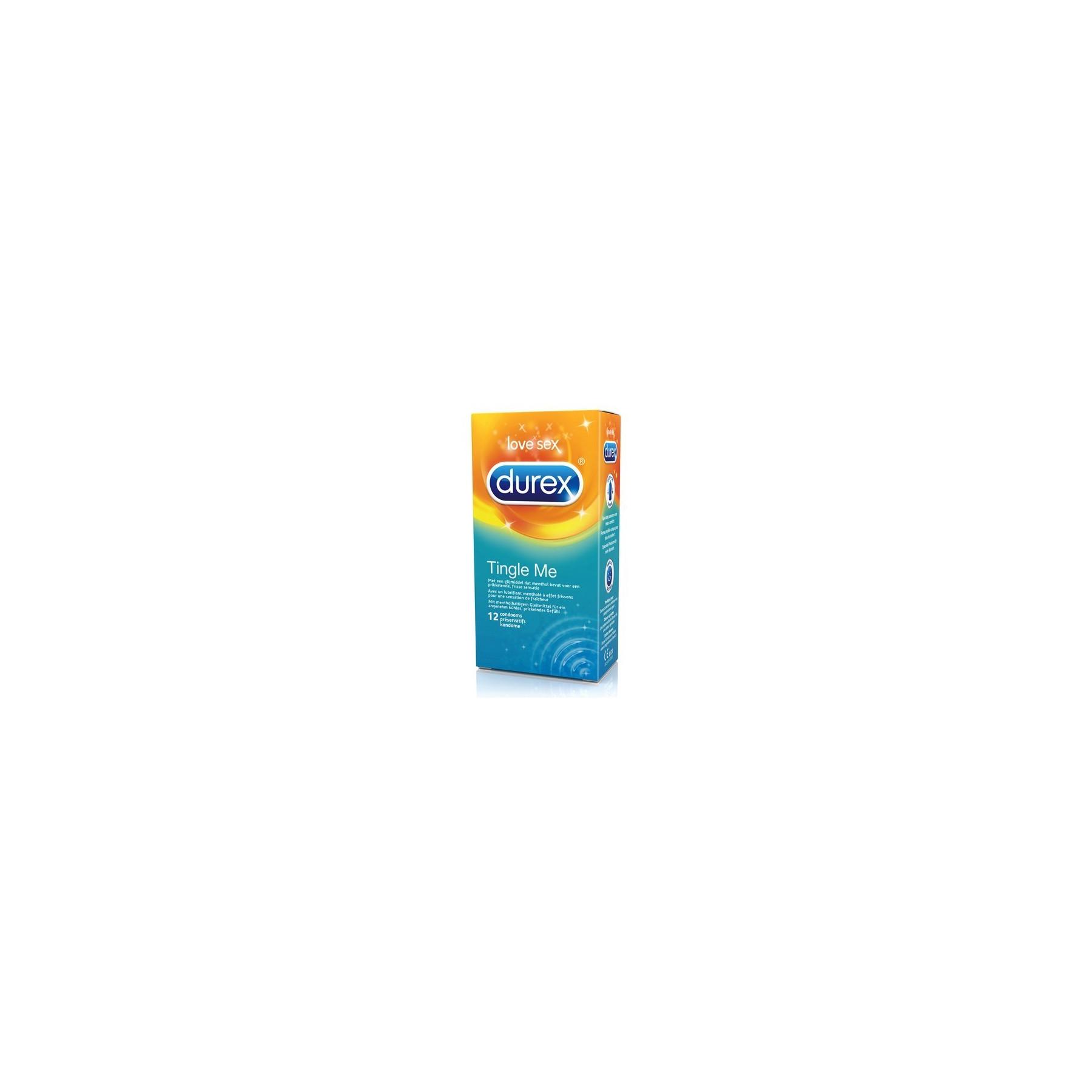 Preservativi Durex Tingle Me Stimolanti Effetto Freddo