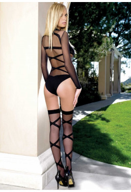 Lingerie Set Body e Calze Criss Cross