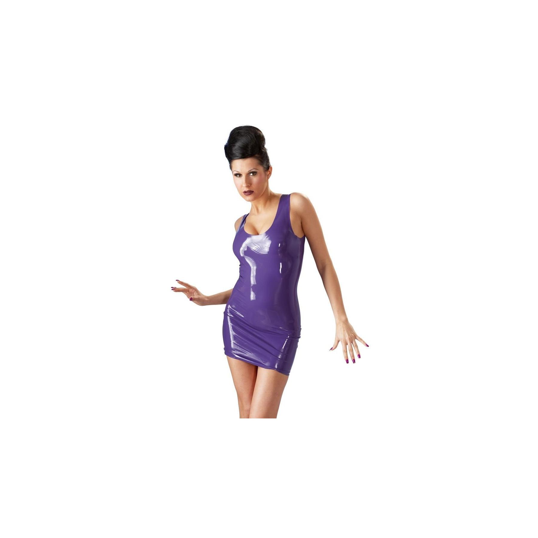 Mini abito in lattice viola Latex Dress
