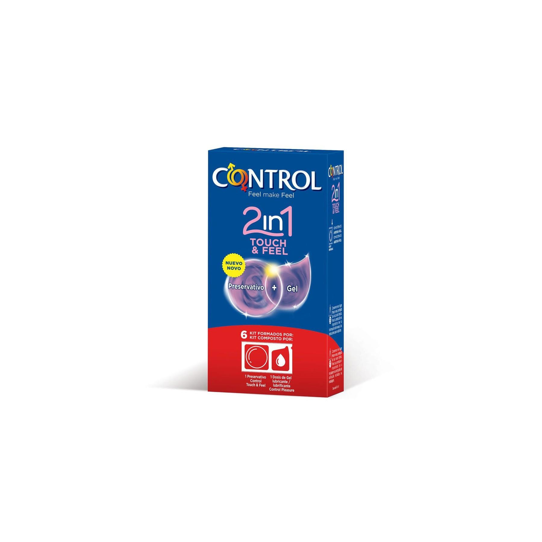 Preservativi Control Touch&Feel 2 in 1 profilattici stimolanti con lubrificante monodose