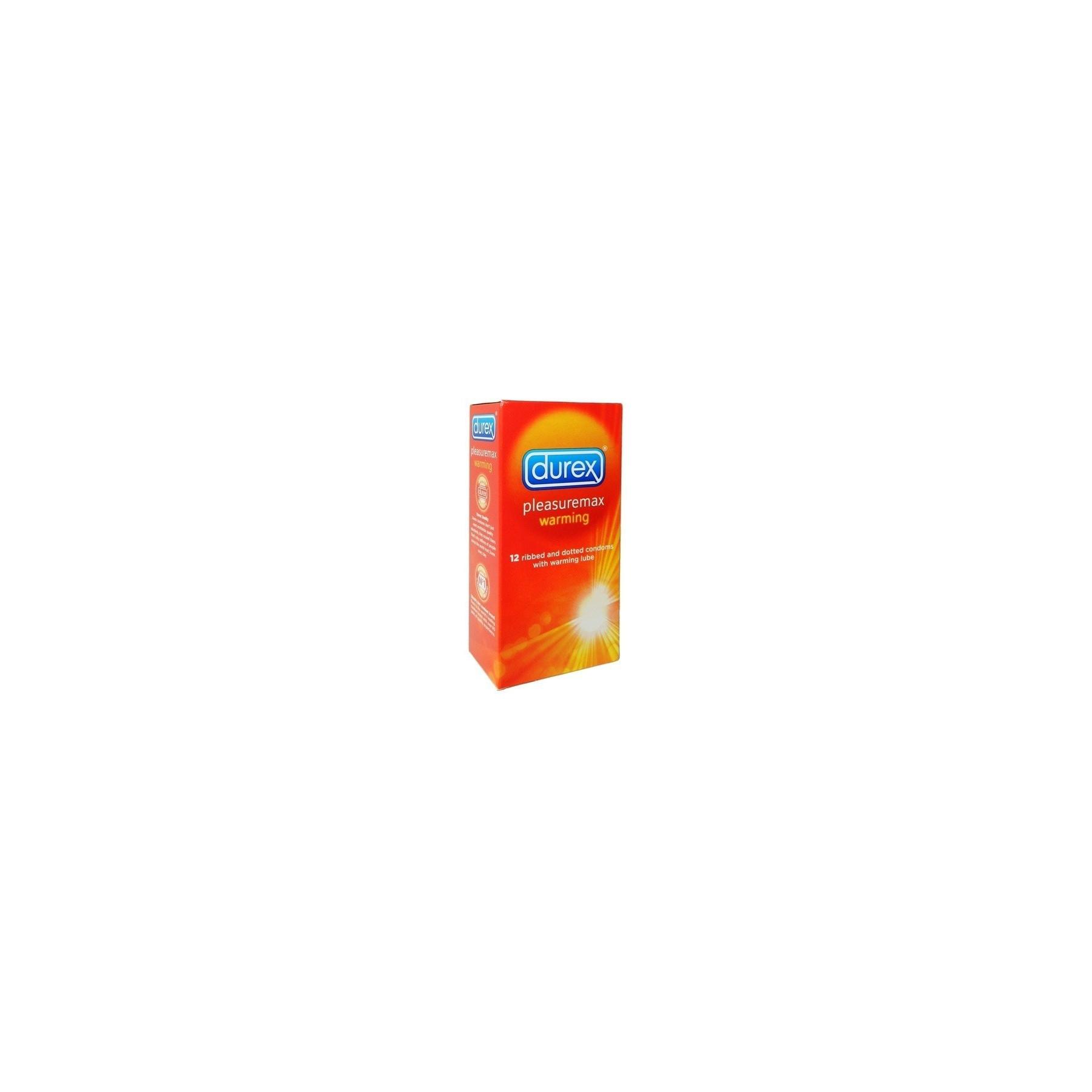 Preservativi Durex Pleasuremax Warming effetto calore