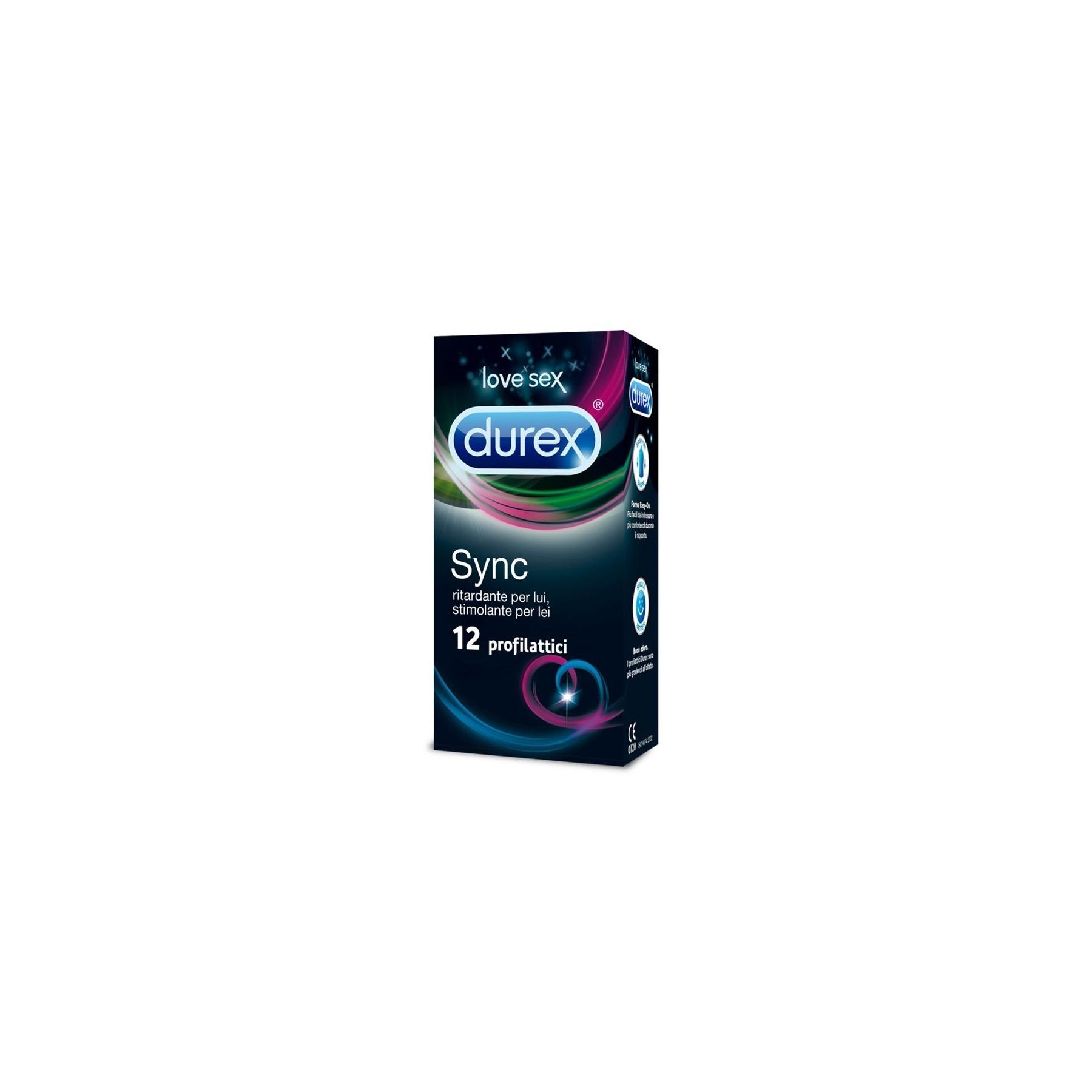 Preservativi Durex Sync Profilattici Stimolanti e Ritardanti