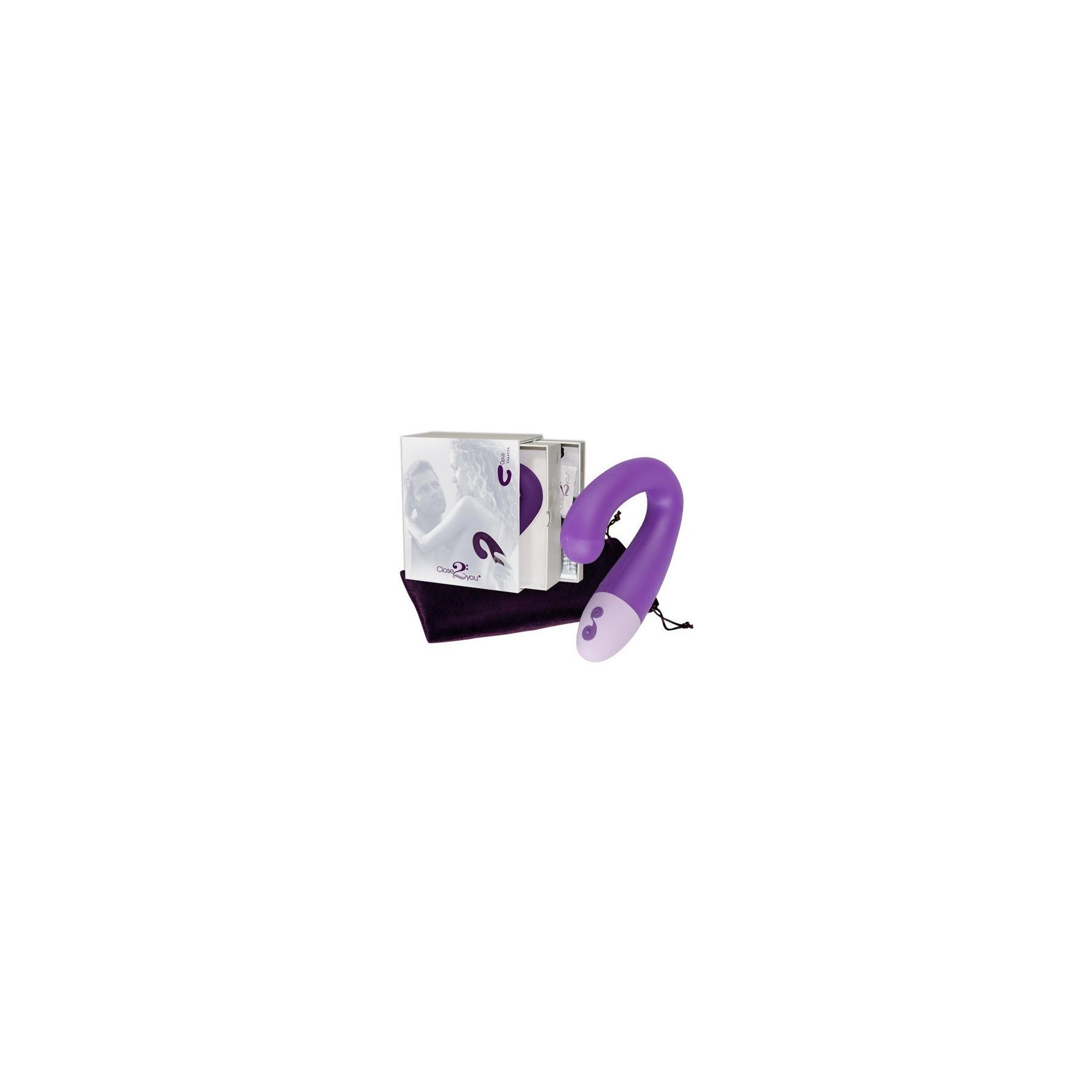 Vibratore Opus Violetto ricurvo per stimolare il punto G