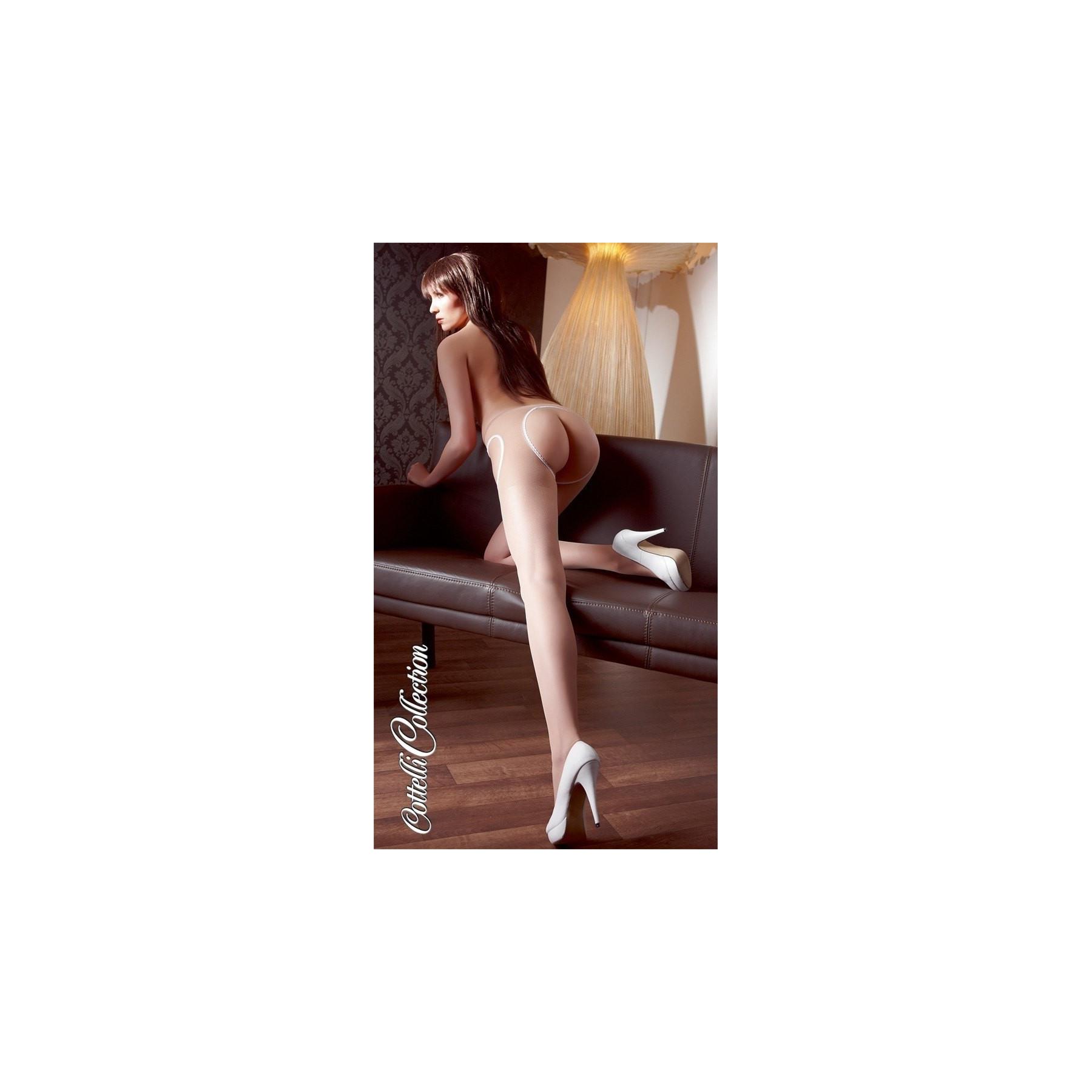 Collant ouvert nude calze con apertura Cottelli