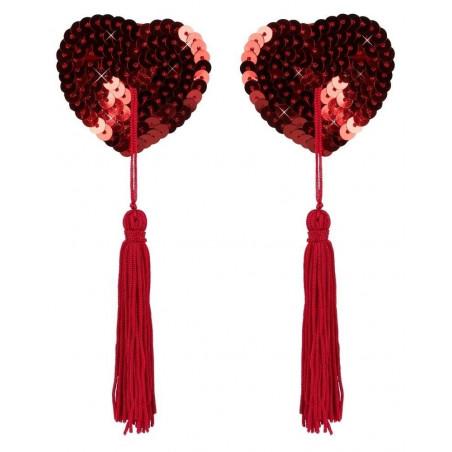 Copricapezzoli in paillettes a forma di cuore