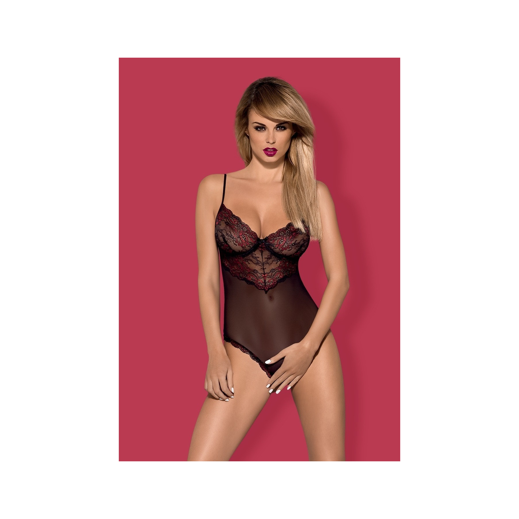 Sexy Body Ouvert ricamato Musca Obsessive Lingerie