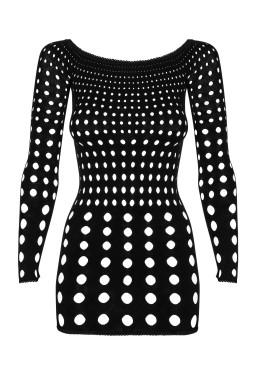 Sexy mini abito traforato Rocker Dress Obsessive