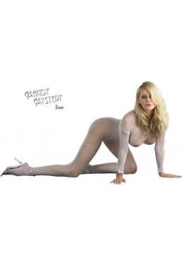 Catsuit bianco Bodystocking rete Mandy Mystery