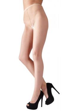 Collant nude in rete riga dietro nera Calze Cottelli
