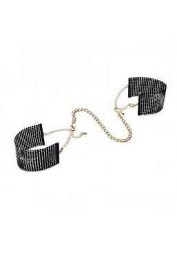Polsini maglia metallica nero oro Désir Métallique