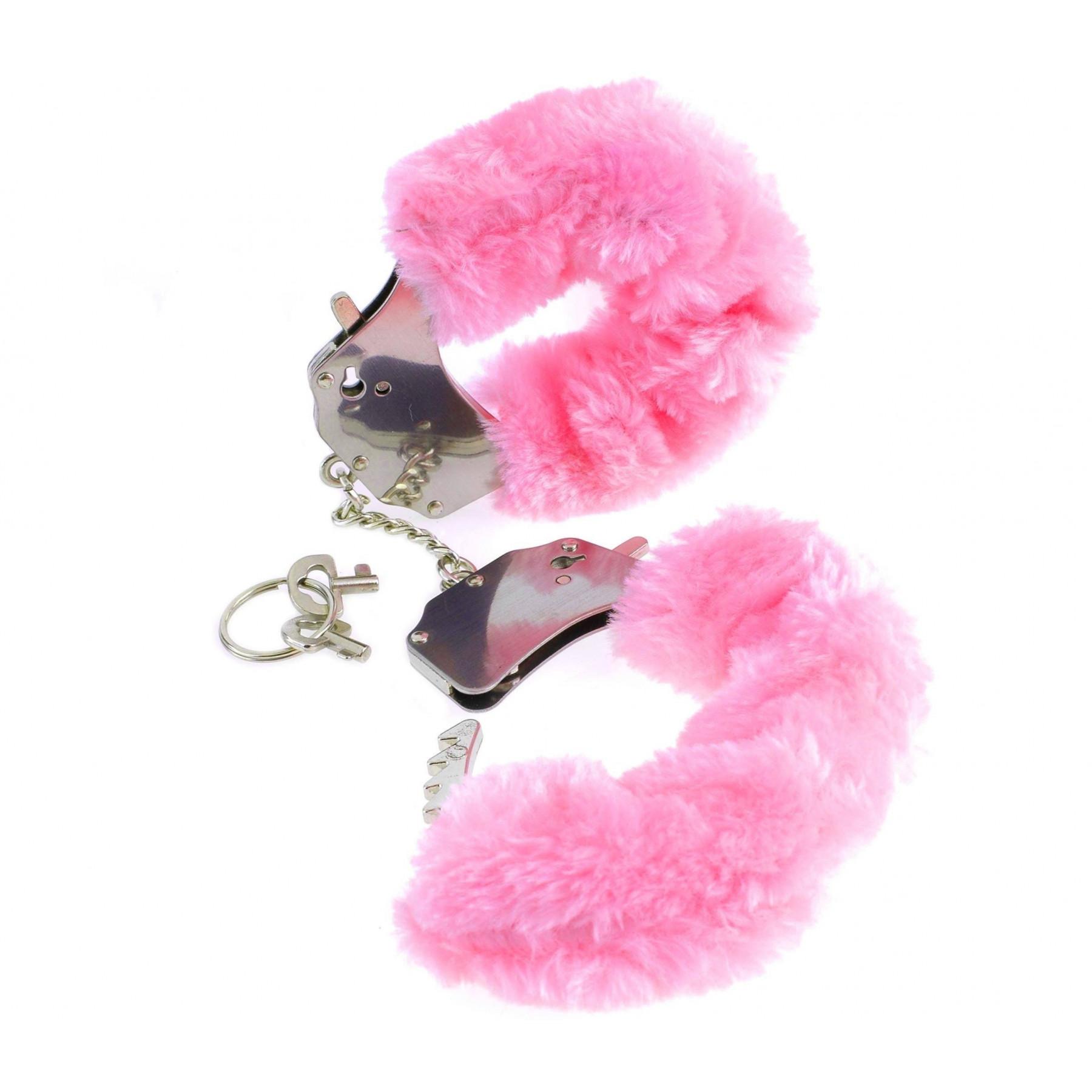Manette in metallo eco pelliccia rosa pipedream