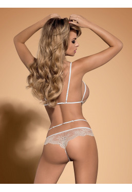 Body intimo ouvert in pizzo beige Bisquitta