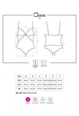 Body Ouvert nero Charms intimo aperto Obsessive