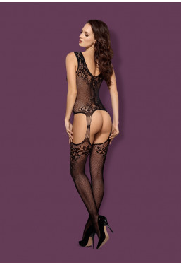 Bodystocking F221 in pizzo nero Obsessive Lingerie