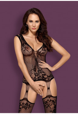 Bodystocking F221 in pizzo nero