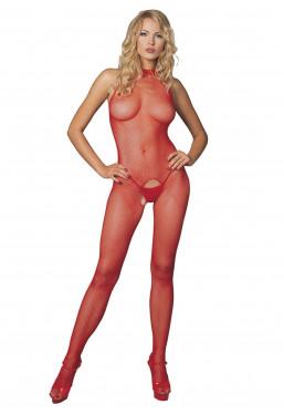 catsuit rosso sexy tutina in rete leg avenue