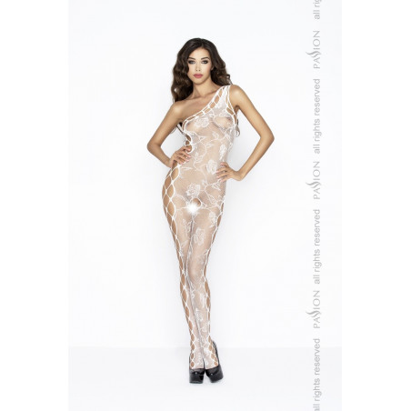 Bodystocking monospalla bianco Catsuit ouvert Passion