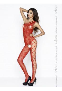 Bodystocking monospalla rosso Catsuit ouvert Passion