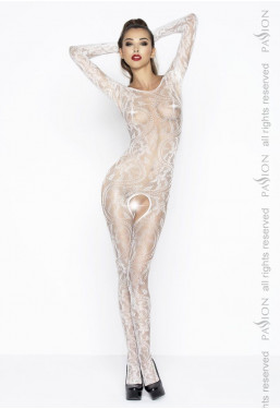 Bodystocking pizzo bianco Passion Lingerie