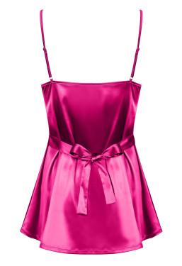 Sottoveste in raso rosa Satinia di Obsessive Lingerie