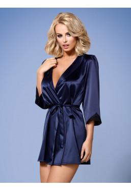 Vestaglia in raso blu Satinia Obsessive