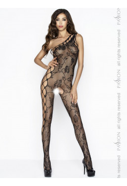 Bodystocking monospalla nero Catsuit ouvert Passion