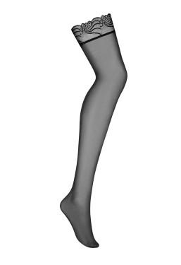 Calze da reggicalze nere con balza in pizzo 828 Obsessive