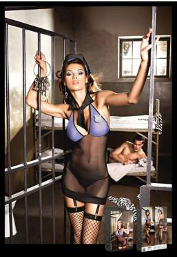 Poliziotta sexy travestimento 4 pezzi Baci Lingerie