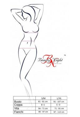Body Trikini in pizzo nero Beauty Night Fashion Lingerie