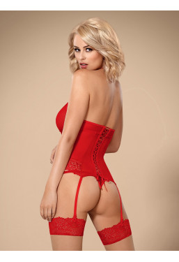 Sexy Guepiere in pizzo rosso 838 Obsessive Lingerie