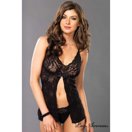 Chemise Babydoll in pizzo Leg Avenue