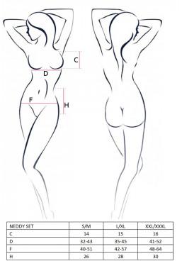 Top e minigonna in pvc nero lucido Passion lingerie