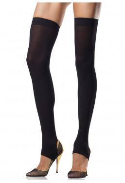 Calze autoreggenti nere senza piede Leg Avenue