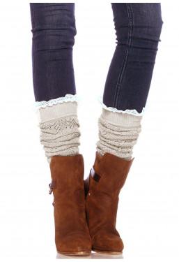 Calze scaldamuscoli maglia crochet Leg Avenue
