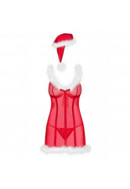 Sottoveste Natalizia con Cappello da Babbo Natale Merrilly Obsessive