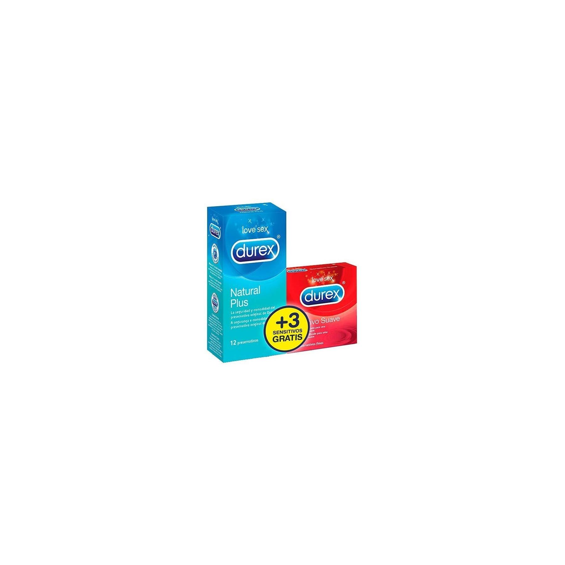 Preservativi Classici Durex Natural con preservativi sottili in omaggio