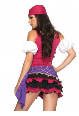 Costume da Gitana sexy travestimento Gipsy Leg Avenue