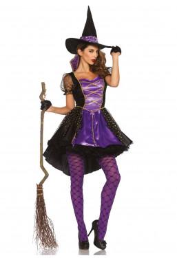 Costume da Strega viola...