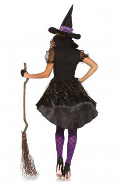 Costume da Strega viola nero Sexy travestimento Maga Leg Avenue